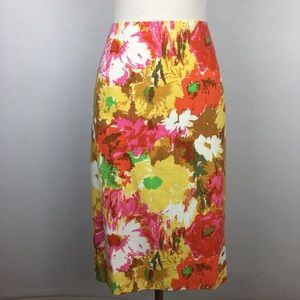 Talbot's Floral Pencil Skirt 16W